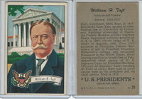 1952 Bowman, U.S. Presidents, #29 William H. Taft