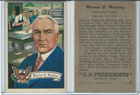 1952 Bowman, U.S. Presidents, #31 Warren G. Harding