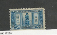 United States, Postage Stamp, #619 Mint NH, 1925 Lexington Concord