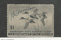 United States, Postage Stamp, #RW12 Used, 1945 Duck Hunting