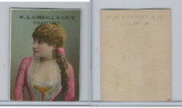 1890 W.S. Kimball Cigarettes, Actresses, Tobacco Card (A), PHX