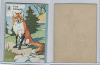 V2 Cowan, Animal Cards, 1920's, (Trimmed) #14 Fox