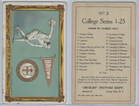 T6 Murad Cigarettes, College Series Premium, 1910, Brown