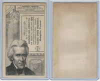 H602 Union Card Company, Presidents, 1890's, Andrew Jackson