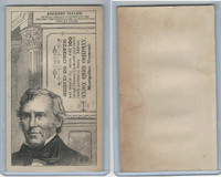 H602 Union Card Company, Presidents, 1890's, Zachary Taylor