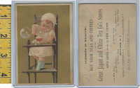 Victorian Card, 1890's, Allen Brothers Tea & Coffee, Buffalo NY, Child Highchair
