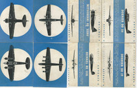 1940's Airplane Spotter Game Cards, World War II, Lot of 4, Zero, Dornier, PHX