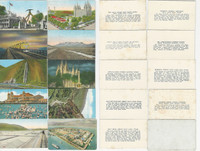 1920's Utah Cards, Salt Lake, Mormon Temple, Lot of 9, PHX