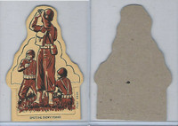 1940's Toy Soldier Pushout Card, World War II, Spotting Enemy Planes, PHX