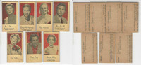 1950's UW4 Engrav-O-tints, Actor Cards, Lot of 7, Dinah Shore, Como, PHX