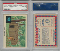 1959 Fleer, Indian Trading, #30 Indian Longhouse, PSA 8 NMMT