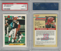 1992 Bowman Football, #197 Jim Breech, Bengals, PSA 10 Gem