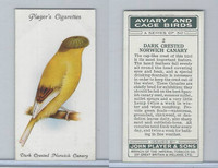 P72-66 Player, Aviary & Cage Birds, 1933, #2 Dark Crested Norwich Canary