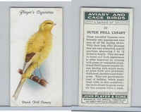 P72-66 Player, Aviary & Cage Birds, 1933, #10 Dutch Frill Canary
