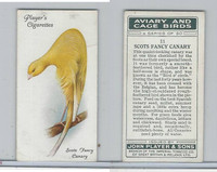 P72-66 Player, Aviary & Cage Birds, 1933, #11 Scots Fancy Canary