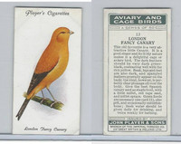P72-66 Player, Aviary & Cage Birds, 1933, #13 London Fancy Canary
