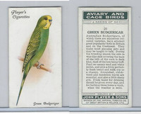 P72-66 Player, Aviary & Cage Birds, 1933, #20 Green Budgerigar