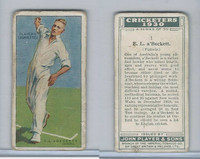 P72-81 Player, Cricketers 1930, #1 EL a'Beckett, Victoria