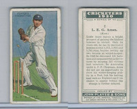 P72-81 Player, Cricketers 1930, #2 LEG Ames, Kent