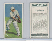 P72-81 Player, Cricketers 1930, #10 G Duckworth, Lancashire