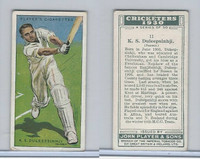 P72-81 Player, Cricketers 1930, #11 KS Duleepsinhji, Sussex