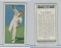 P72-81 Player, Cricketers 1930, #17 TW Goddard, Gloucestershire