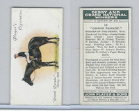 P72-88 Player, Derby & Grand Winners, 1933, #12 Grand Parade, Templeman, Horse