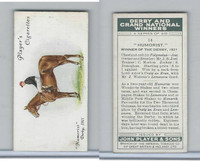 P72-88 Player, Derby & Grand Winners, 1933, #14 Humorist, S. Donoghue, Horse