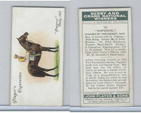 P72-88 Player, Derby & Grand Winners, 1933, #16 Papyrus, Donoghue, Horse