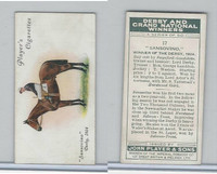 P72-88 Player, Derby & Grand Winners, 1933, #17 Sansovino, T. Weston, Horse