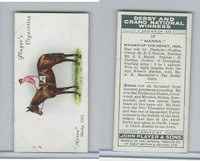 P72-88 Player, Derby & Grand Winners, 1933, #18 Manna, S. Donoghue, Horse