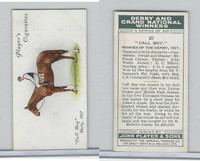 P72-88 Player, Derby & Grand Winners, 1933, #20 Call Boy, EC Elliott, Horse