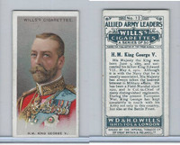 W62-61 Wills, Allied Army Leaders, 1917, World War I, #12 King George V