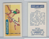 L0-0 Lamberts Tea, Sports and Games, 1964, #1 Athletics