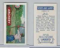 L0-0 Lamberts Tea, Sports and Games, 1964, #10 Archery