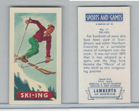 L0-0 Lamberts Tea, Sports and Games, 1964, #11 Skiing