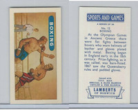 L0-0 Lamberts Tea, Sports and Games, 1964, #12 Boxing