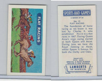 L0-0 Lamberts Tea, Sports and Games, 1964, #13 Flat Racing, Horse