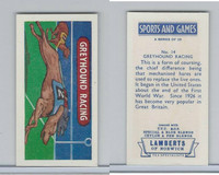 L0-0 Lamberts Tea, Sports and Games, 1964, #14 Greyhound Racing, Dog