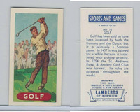 L0-0 Lamberts Tea, Sports and Games, 1964, #16 Golf
