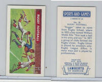 L0-0 Lamberts Tea, Sports and Games, 1964, #18 Rugby Football