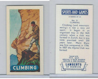 L0-0 Lamberts Tea, Sports and Games, 1964, #21 Climbing