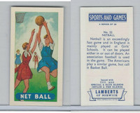 L0-0 Lamberts Tea, Sports and Games, 1964, #22 Net Ball