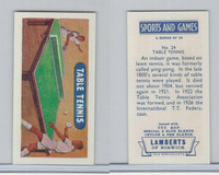 L0-0 Lamberts Tea, Sports and Games, 1964, #24 Table Tennis