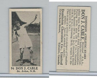 V31 Dominion Chocolates, Athletic Stars, 1926, #94 Don J. Cabe, Shot Put