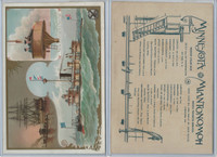 A22 Allen & Ginter, Our Navy, 1890, Ships, Minnesota & Miantonomoh