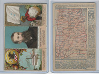 N133 Duke, State Governors, Coats of Arms Tri-Fold, 1888, Alabama, Seay