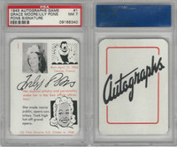 1945 Leister, Autographs Card, #1 Grace Moore, Lily Pons, PSA 7 NM