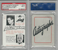 1945 Leister, Autographs Card, #1A Kaltenborn, Lowell Thomas, PSA 7 NM