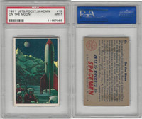 1951 Bowman, Jets, Rockets, Spacemen, #15 On The Moon, PSA 7 NM